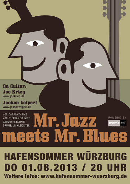plakat hafensommer w&uulm;rzburg mr. jazz meets mr. blues